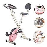 WSCQ Heimtrainer für Damen, Faltbares Fitnessbike...
