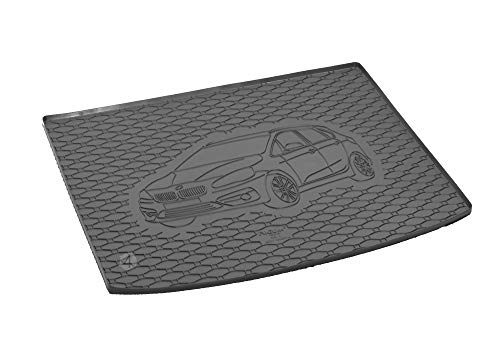 Passgenau Kofferraumwanne geeignet für BMW 2er Active Tourer ab 2015 ideal angepasst schwarz Kofferraummatte + Gurtschoner