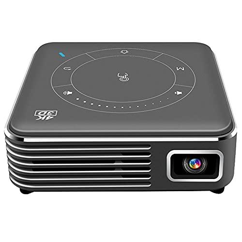 Hotar Mini proyector 3D con USB 2.0 Bluetooth 4K HD pantalla WiFi 2.4G LED