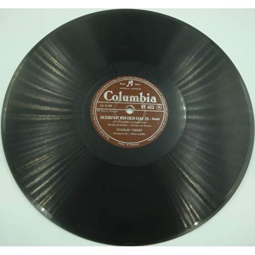 CHARLES TRENET la mer/en écoutant mon coeur chanter ALBERT LASRY 78T Columbia