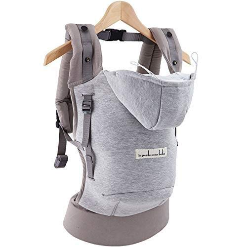 Je porte mon bebe - Love radius - hoodiecarrier coton - gris athletique Hc13