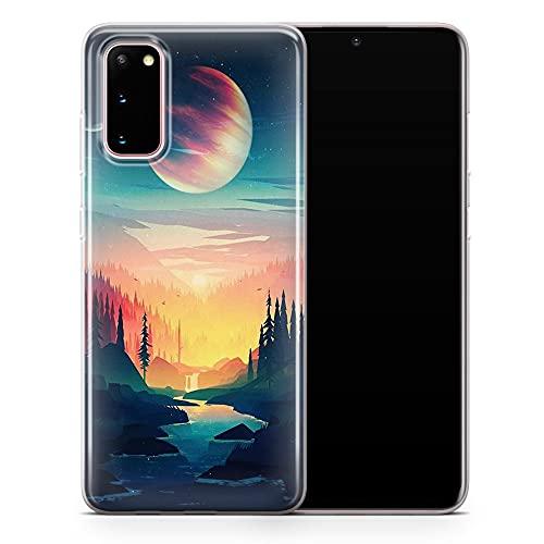Funda para Samsung Note 10 – Funda para teléfono de gran montaña, diseño floral de arte estético – Delgada a prueba de golpes y suave silicona TPU – Diseño 2 – A110