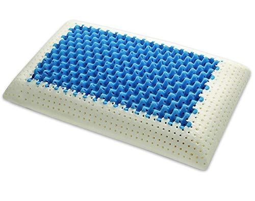 Marcapiuma – Kissen aus Memory – Blau Air Massage – Ultra atmungsaktive Einlage mit Massageeffekt, 100{58fd8184fc529e14da455589d2669338c26c959b6c9ef65848db4306673ac2d7} Baumwolle, Kopfkissen aus Memory-Schaum, orthopädisch, CE-Zertifiziert