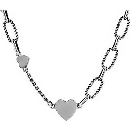 Xbqzda Collar Vintage Collar de Collar Ligero LUZ TIENDO CORAZÓN En Forma de corazón Collar de Ladie Regalo de la joyería