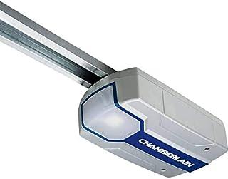 Chamberlain Premium ML - Accionamiento de puerta oscilante y seccional de garaje (2 transmisores, rieles de guías), color plateado