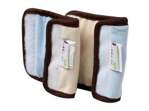 Happy Kids 28604 Coussin de ceinture pour siège auto Bleu clair/beige