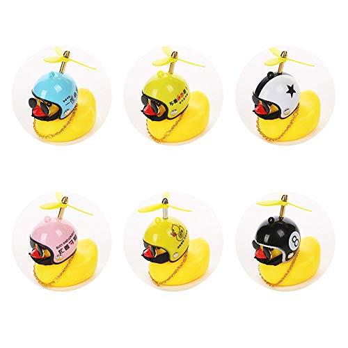 Generic 1 Pieza Squeeze Duck Bicycle Horn, Bonitos Cuernos para apretar para niños, Adultos, Ciclismo, Pato Amarillo, Juguete para Decoraciones de salpicadero de Coches (Color Aleatorio)