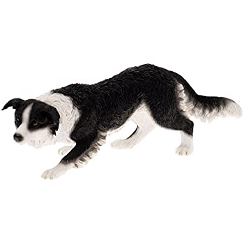 Chien Leonardo Collection D/écoration Border Collie Noir Pierre