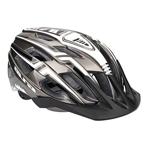 freneci Fahrradhelm mit LED Rücklicht Radhelm für Männer Frauen, Mountain & Road Fahrradhelme Sicherheitsschutz Mit Helmpolster-Set - Grau