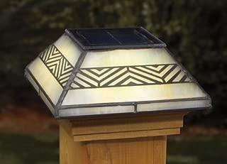 Chevron Filigreed Glass Post Cap Light for 4x4 Posts (Inside Dimensions measure 3-5/8? x 3-5/8?) - Cedar Skirt by Deckorators