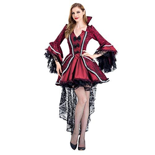 SHINEHUA Dames rood korsetten Gothic taille lange vlekjurk mini korset kort party steampunk jurk corsagejurk petticoat bustier top Halloween Cosplay kostuum