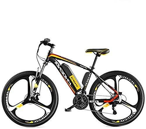 Bicicleta eléctrica de nieve, Las bicicletas eléctricas for el adulto, hombre de bicicleta de montaña, acero de alto carbono Ebikes bicicletas todo terreno, 26' 36V 250W extraíble de iones de litio de