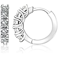 Molossis 18K White Gold Plated Cuff Earrings
