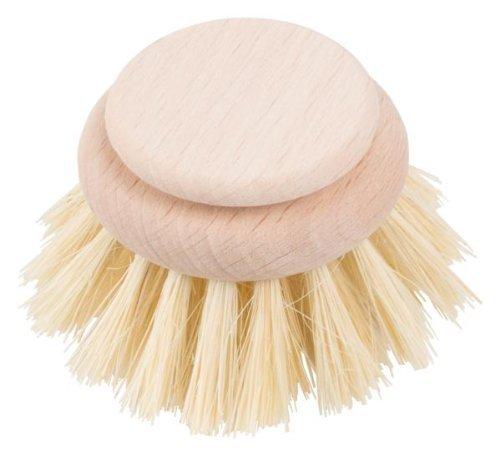 HOFMEISTER® Ersatzkopf für Holz-Spülbürste, echt Fibre, Länge 24 cm, großer Kopf 5,3 cm, robust, aus Europa, hitzebeständige Geschirr-Spülbürste, Bürstenkopf zum Wechseln