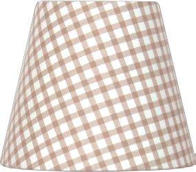 Nordika Design Lieblingslampen Glatter Lampenschirm C2 LKE E14 Hellbraun mit kleinen Karos 14 cm / 18 cm / 14 cm (Oben/Unten/Seitenlänge)