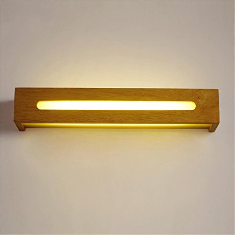 Uncle Sam LI - Einfache stilvolle hlzerne LED-Badezimmer-Spiegel-vordere Lichter Treppenhaus-Schlafzimmer-Wand-Lampe (farbe   Warmwei-35cm)