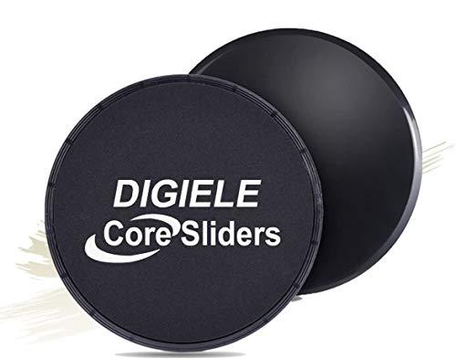 Core Sliders, Gliding Disc Fitness Training für Ganzkörper-Übung, Doppelseitig Gleitscheiben den Einsatz auf Teppichböden oder Parkett, Core Trainers Sliders für Core Training & Home Workouts