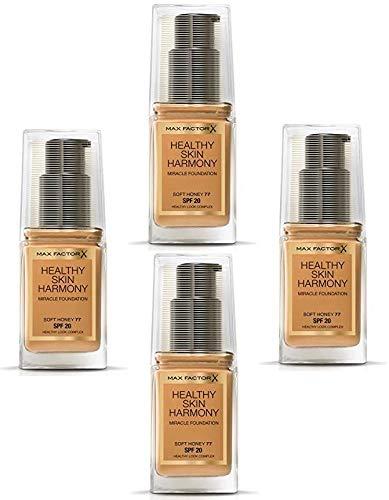 Healthy Skin Harmony Miracle Foundation - 77 Miel doux, ensemble de 4 (4 x 30 ml)