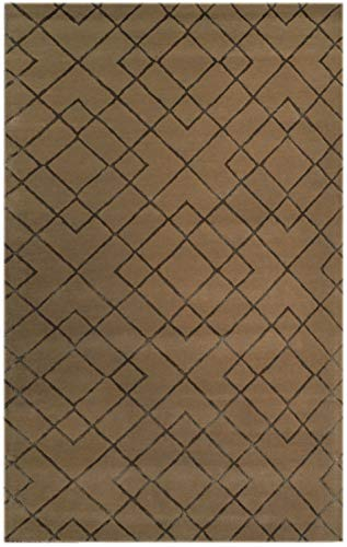 Bakero Teppich, Wolle/Viskose, Mocca, 183 x 122 x 1.5 cm