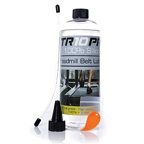 TR10Pro 100% Aceite de Silicona Lubricante para la Cinta de la Caminadora de 750ml de Control Extra Largo Aplicador de Flujo fácil de Usar en Todas Las Caminadoras