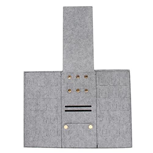 Hengxing Bolsa de joyería portátil de Viaje Bolsa de Almacenamiento de joyería táctil cómoda,Gris Oscuro