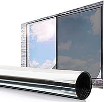 ESSORT Film Miroir Fenêtre Protection de Solaire Film Réfléchissant 45 * 200cm Anti 92% UV Film Miroir à Sens Unique...