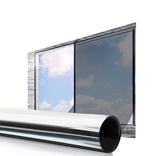 Essort Vinilo Película Ventana 45 x 200 cm Solar Adhesiva Lámina Privacidad Anti 92{3a827aa0e6866d861fbe6e7657de235852bb4caebf8a550358c499cfcc2b30d8} UV Control de Calor para Hogar y Oficina