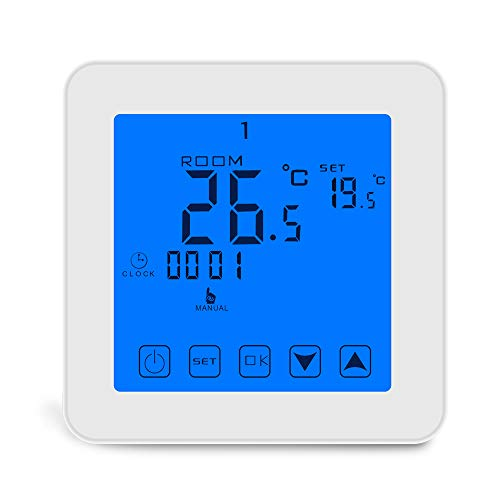 Konesky Konesky - Termostato programable Wi-Fi inteligente - Controlador Tuya para calefacción de gas con calentador de agua eléctrico - Funciona con Alexa Google Home - Control mediante aplicación