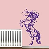 Cartoon Unicorn Horse Nursery Girls Bedroom Wall Decal Home Decor Wandsticker, Vinyl, für Kinder