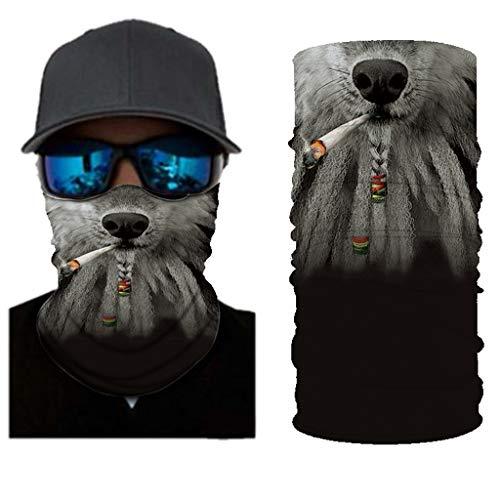 WiHoo Bedruckte Multifunktionstuch Gesichtsmaske Atmungsaktiv Schlauchtuch Damen Halstuch Schutzmasken,Herren Schlauchschal Outdoor UV Staubschutz Mund-Tuch Motorrad Fahrrad Joggen Schal Face Shield