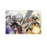 JIENU Póster de anime de Edens Zero Fairy Tail de Shiki Natsu con pintura decorativa en lienzo para pared, para sala de estar, dormitorio, 20 x 30 cm