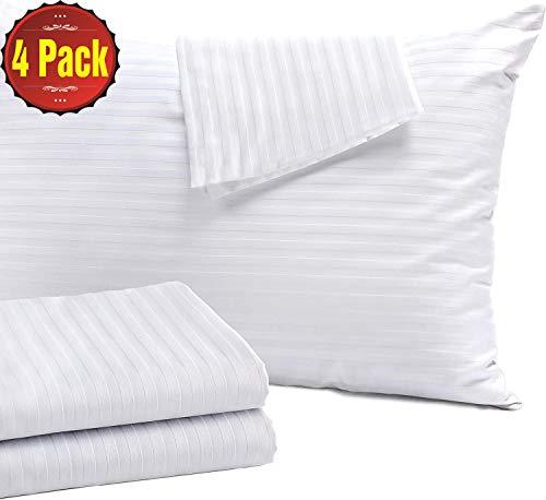 Niagara Sleep Solution 4 Pack Pillow Protectors Standard 20x26 Inches...
