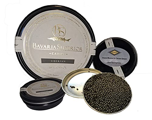 Kaviar - Bavaria Superior Caviar - Vom Sibirischen Stör - Feinster Siberian Caviar 250g