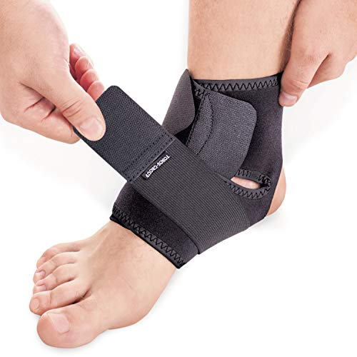 Knöchelbandage mit Kompression Wrap Unterstützung für Fuß Support Bandage Neoprene Schwarz Medium