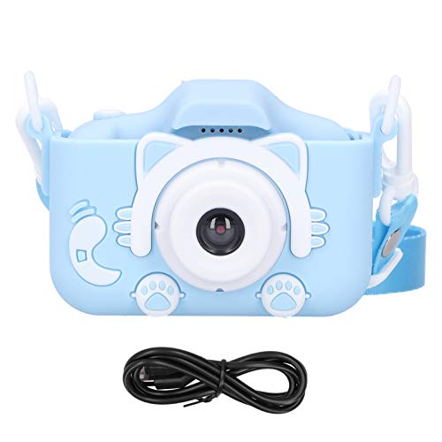FOLOSAFENAR Small Size Video Recording Camera Toy Silicone X5S Environmentally Friendly Digital Camera 1080P The Best Thanksgiving/Christmas/Birthday Gift for Kids(Blue)
