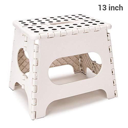 Miner 15inch opvouwbare plastic stoel voet opstapkruk moestuin badkamer wc kruk outdoor draagbare wandelstoel kindermeubilair, 13inch wit