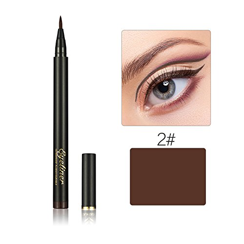 Beauté Maquillage Silky Slim Eyeliner Pen Eyeliner Soft Cool Black Fibres Dry Quickly Eyeliner Pen Anti-transpiration imperméable Glitter Eye Liner Crayon