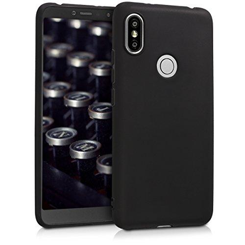 kwmobile Funda Compatible con Xiaomi Redmi S2 / Redmi Y2 - Carcasa de TPU Silicona - Protector Trasero en Negro Mate