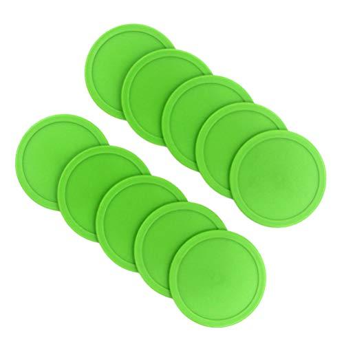 Abaodam 20 Stück Air Hockey Schieber Pucks Air Hockey Tisch Mini Eishockey Stück Luftfederung Zubehör Ball Sport Werkzeuge für Outdoor (grün)