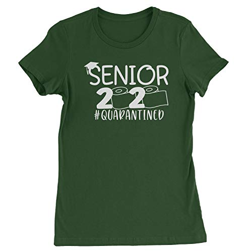 Womens Seniors 2020 Quarantined Toilet Paper T-Shirt Medium Forest Green