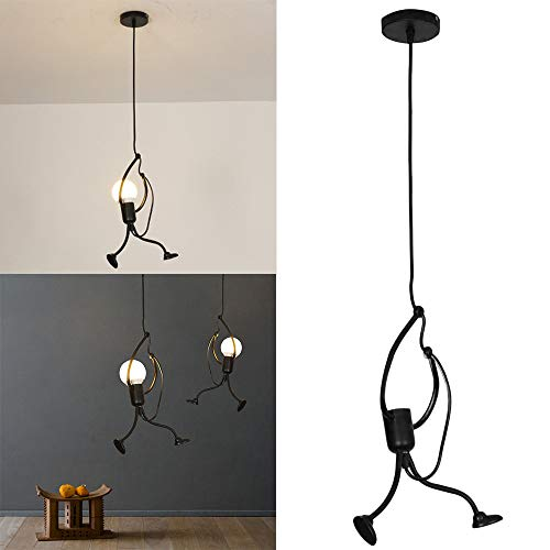 ☀ Dergo ☀ Modern Charming Hanging Chandelier Creative Iron People Lamp Elegant Hanger