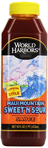 World Harbors Maui Mountain Sweet 'n Sour Sauce and Marinade, 16 oz