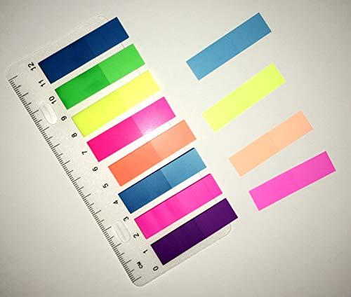 12 x 45 mm Haftnotiz Pagemarker Folie mit Lineal Streifen Kores; #Haftnotiz...