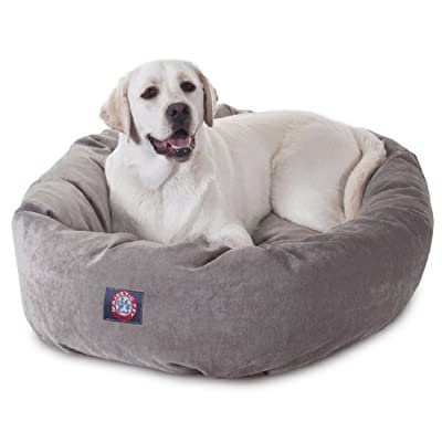 40 inch Vintage Villa Collection Micro Velvet Bagel Dog Bed By Majestic Pet Products