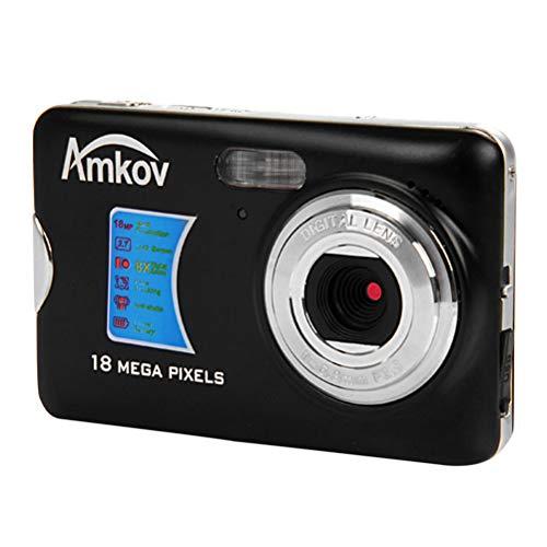 LEDMOMO Amkov CDFE Mini Digitalkamera DVR Super Thin 14 Megapixel Ultra-HD 2,7 Zoll Display Video Camcorder Recorder (Schwarz)