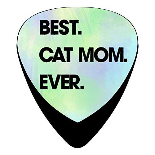 hangong Best Cat Mom Ever - Púas para guitarra eléctrica...