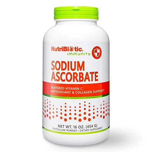 NutriBiotic - Sodium Ascorbate Buffered Vitamin C Powder, 16 Oz | Vegan, Non-Acidic & Easier on Digestion Than Ascorbic Acid | Essential Immune Support & Antioxidant Supplement | Gluten & GMO Free