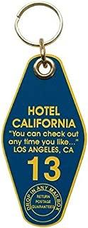 Hotel California Motel Keychain. Vintage Hotel Style Keychain, Room 13 Room Key. Eagles Fan, Glenn Frey, Don Henley Fan, Classic Rock Fan.