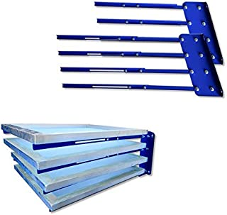 TECHTONGDA 4 Layers Screen Rack Shelf Storage Frame Holder Screen Printing Rack Screen Drying