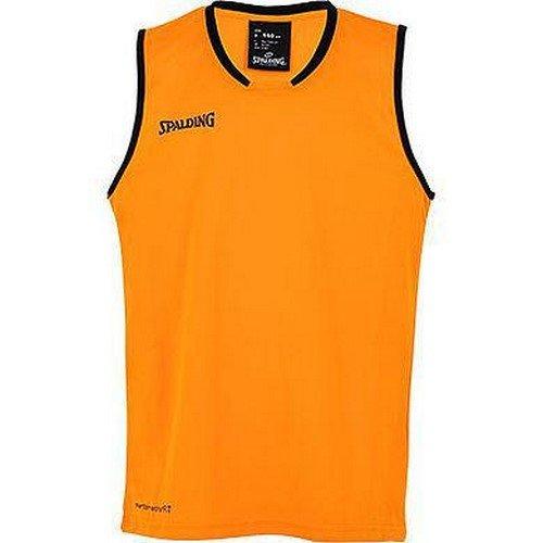 Spalding Herren Move Tank Top, dark orange/Schwarz, 4XL
